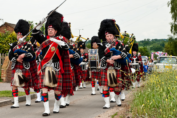 Epping Forest Pipe Band at the Abridge Festival