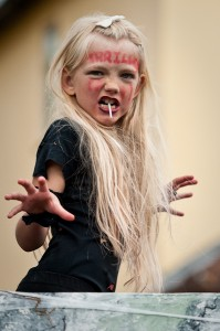 Girl posing as a character from Thriller