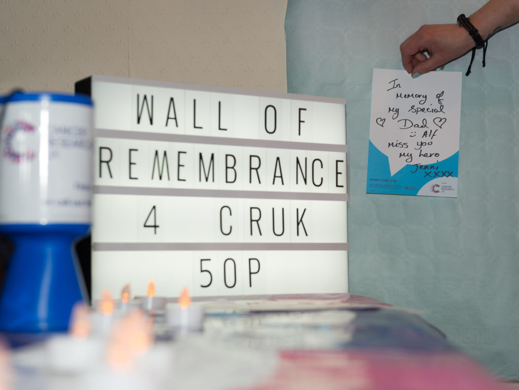 Wall of Rememberance with first post