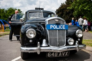 Honorary Sergeant Charlie with his 1954 Volseley Six Eighty