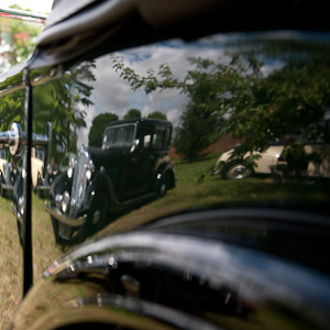 Reflections of a classic car show