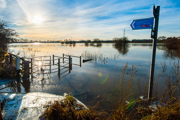 Picture of the flooded river Ouse