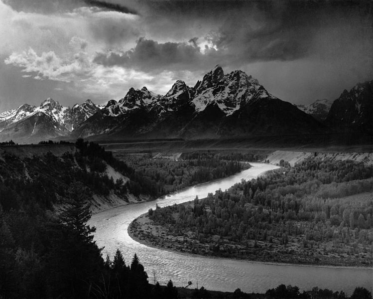 Ansel Adams took this photograph while employed by the United States Government, see http://www.archives.gov/research/ansel-adams/ for more information on copyright status.