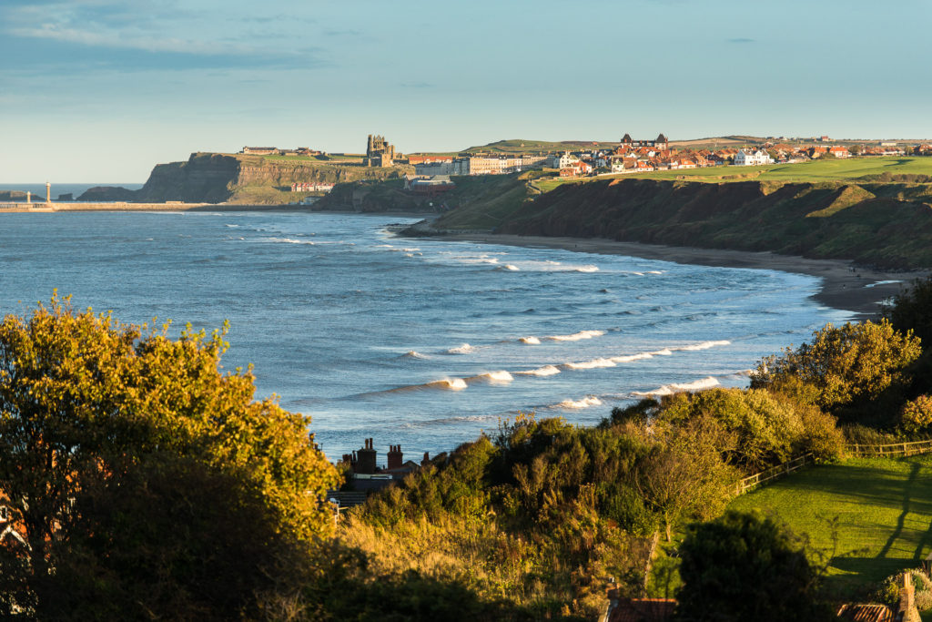 Whitby Seen From Across Sandsend Bay