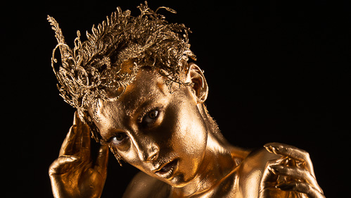 Golden Girl Bodypaint Group Shoot (NSFW)
