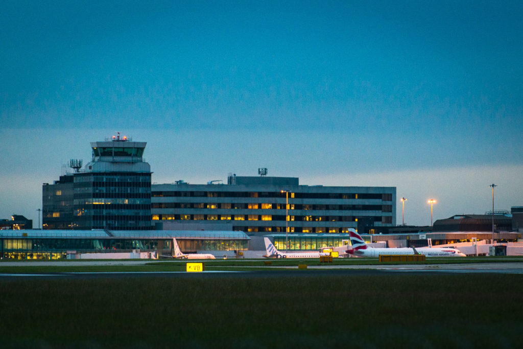 Manchester Airport In Twilight